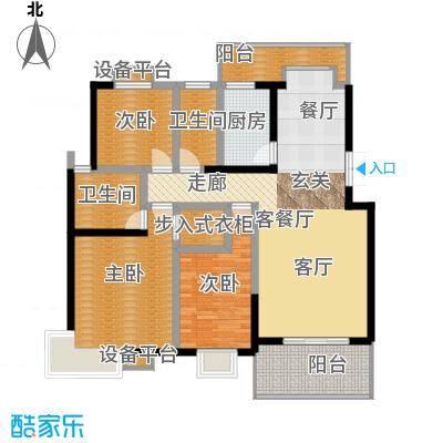 鑫远湘府华城110.00㎡B1面积11000m户型