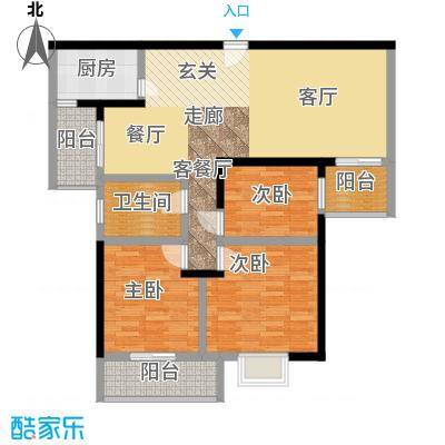 鑫远湘府华城102.00㎡D1面积10200m户型