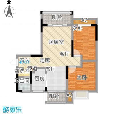 博雅湘水湾89.74㎡3栋面积8974m户型
