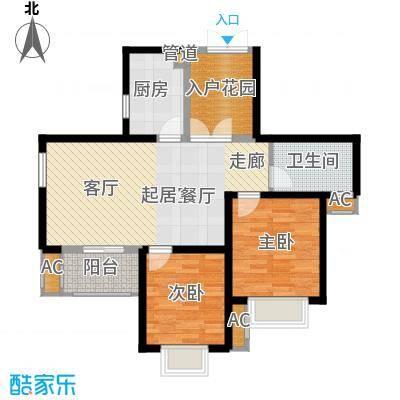 湘江世纪城91.00㎡豪江苑7#楼02面积9100m户型