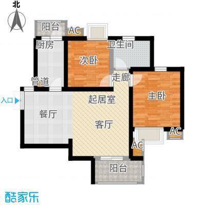 湘江世纪城90.00㎡瑞江苑3#楼04面积9000m户型