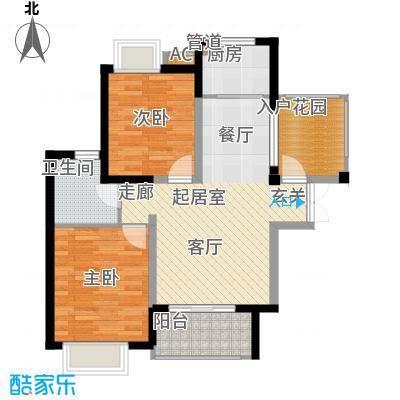 湘江世纪城89.00㎡悦江苑6#楼01面积8900m户型