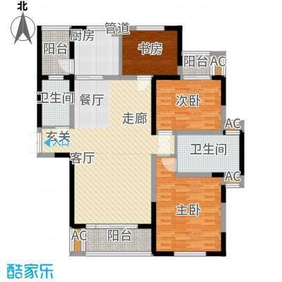 长高圆梦佳苑136.19㎡2、3、9#C2户型