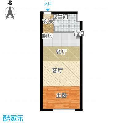 昊天52.70㎡1栋27层朝南14、16、18号户型