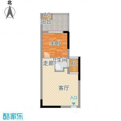 君悦紫园55.00㎡C户型