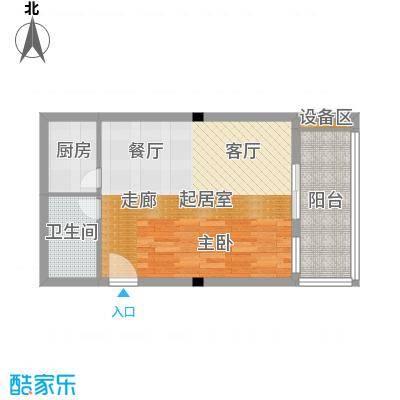 西子花苑64.00㎡精装A1面积6400m户型