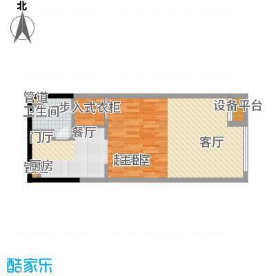 江与城62.66㎡E户型