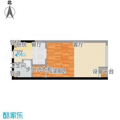江与城63.03㎡F户型