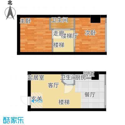 鑫秋大厦50.95㎡A2a户型