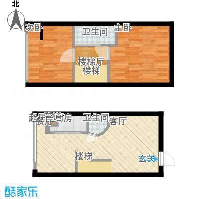 鑫秋大厦50.95㎡A1a户型