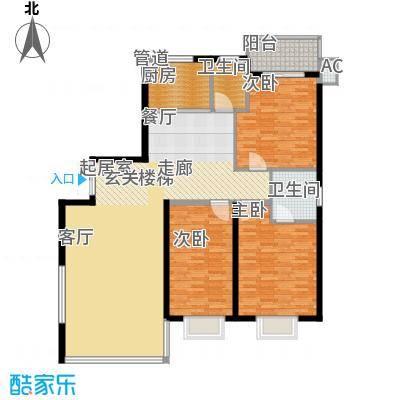 鑫天山水洲城136.36㎡B14面积13636m户型
