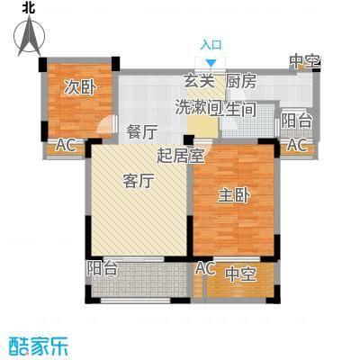 丽景华庭92.00㎡V1户型