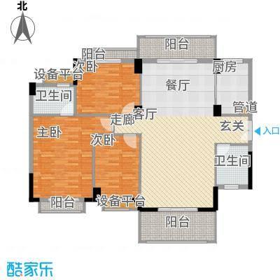 长沙玫瑰园140.00㎡27#楼01面积14000m户型