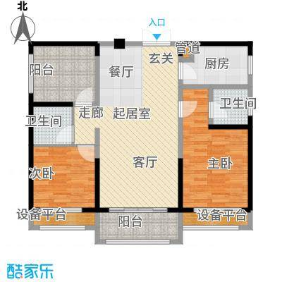 荣盛岳麓峰景94.76㎡D2户型
