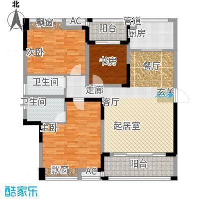 鑫天格林香山116.95㎡6、10、15栋G1户型