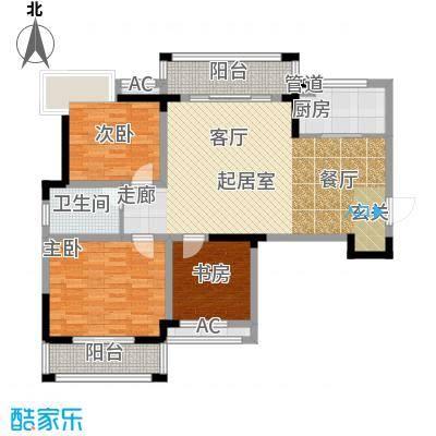 鑫天格林香山104.93㎡9、12、14栋E1户型