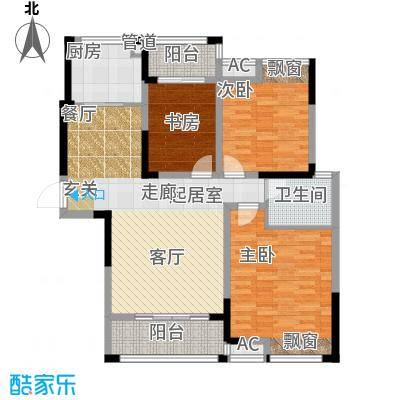 鑫天格林香山108.00㎡16号栋H3户型