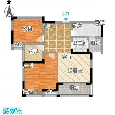 鑫天格林香山86.00㎡17号栋F2户型