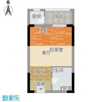 锦湘国际星城57.15㎡K4面积5715m户型