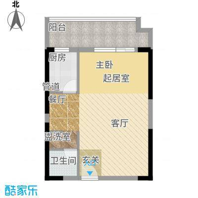 锦湘国际星城69.24㎡K8面积6924m户型