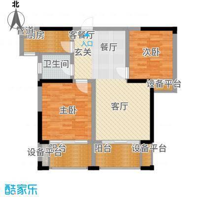 鑫远湘府华城89.05㎡2/4栋C4-1户面积8905m户型