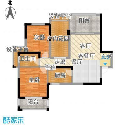 鑫远湘府华城95.10㎡1&3栋C1面积9510m户型
