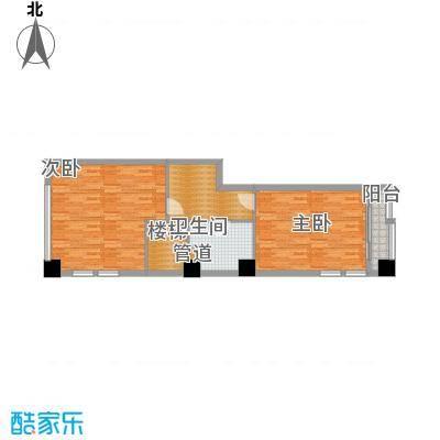 地泰御和苑72.00㎡复式办公楼上层户型