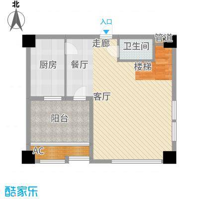 地泰御和苑72.00㎡复式公寓下层户型