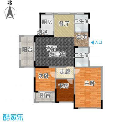 湘水郡140.70㎡2-3户型