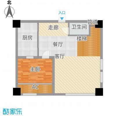 地泰御和苑72.00㎡复式办公楼下层户型