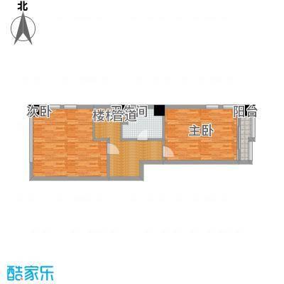 地泰御和苑72.00㎡复式公寓上层户型