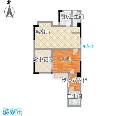 梦泽园美美公馆95.60㎡1、2栋32层A1户型