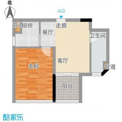 藏珑湖上国际社区47.17㎡D户型