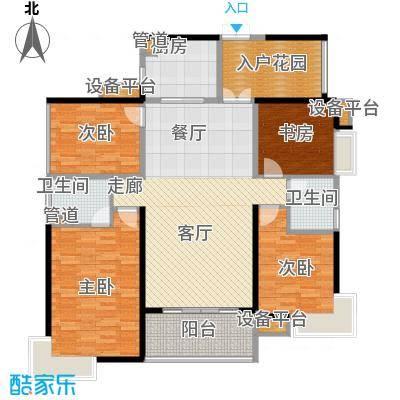 藏珑湖上国际社区142.28㎡中央庭院B1户型