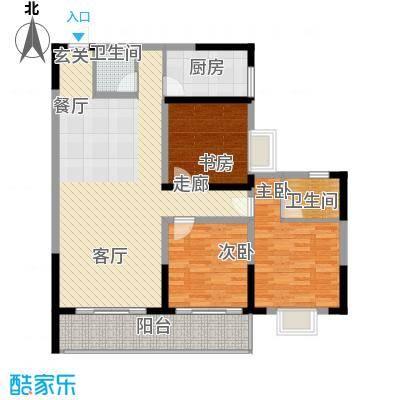 瑞凯景城苑127.11㎡I户型