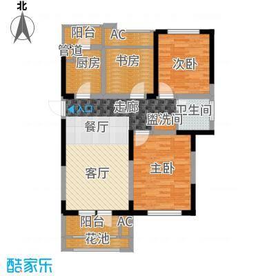 长沙世茂铂翠湾93.00㎡12#、13#E-A户型