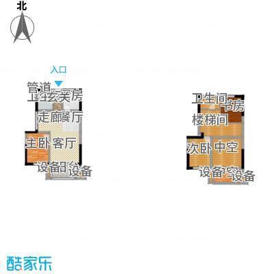 正荣财富中心130.00㎡D2复式户型
