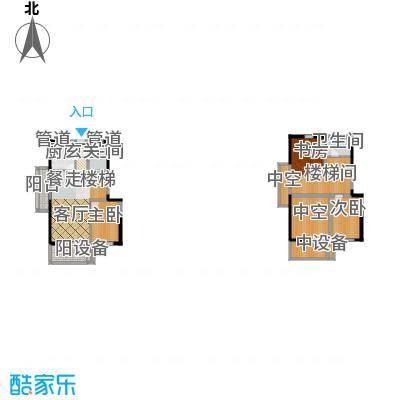 正荣财富中心106.00㎡D3复式户型