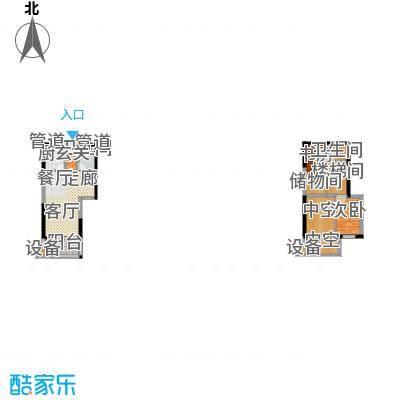 正荣财富中心106.00㎡D4复式户型