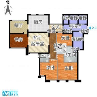 公元沐桥234.00㎡图原公寓F1户型