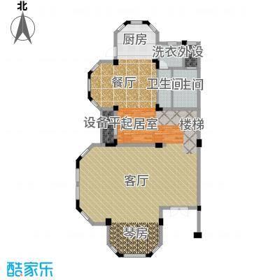 恒远锦绣兰庭134.00㎡联排下层平面户型