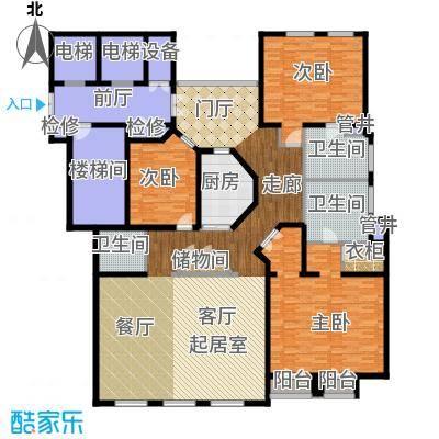 公元沐桥221.00㎡图原公寓D1户型