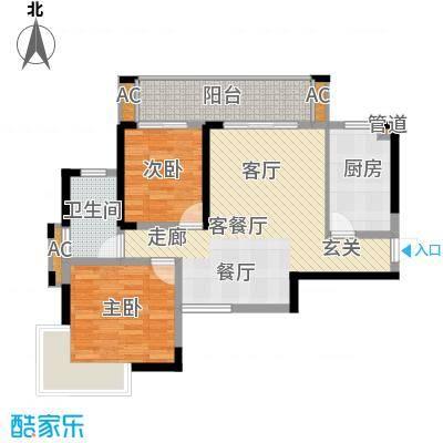 鑫天御景湾88.87㎡8-9#H1户型