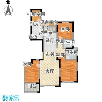 纳爱斯阳光锦城140.00㎡3B户型