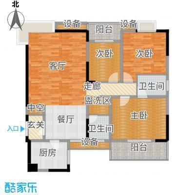 万里江山128.05㎡B户型
