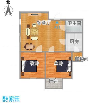 板楼90方03户型两室两厅