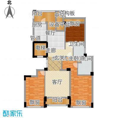 裕丰青鸟香石公寓139.26㎡北区A2户型