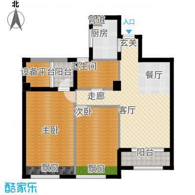 裕丰青鸟香石公寓89.51㎡北区户型