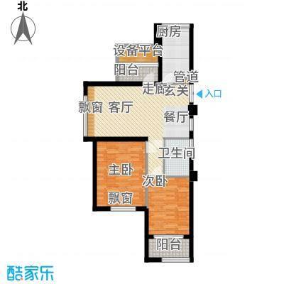 裕丰青鸟香石公寓89.29㎡北区户型