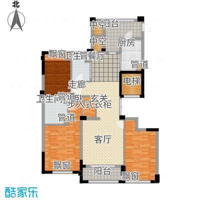 裕丰青鸟香石公寓137.17㎡北区A1户型